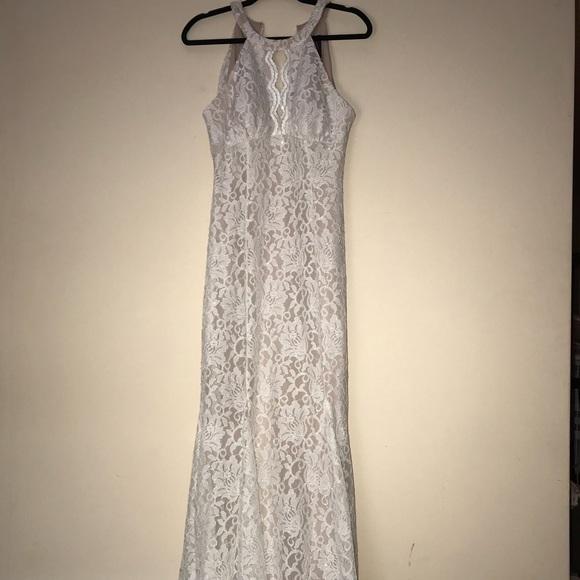 Dresses Nightway Lace Halter Gown Poshmark